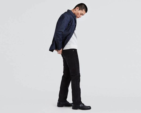 Levi's 505 Regular Fit Corduroy Pants - Black2