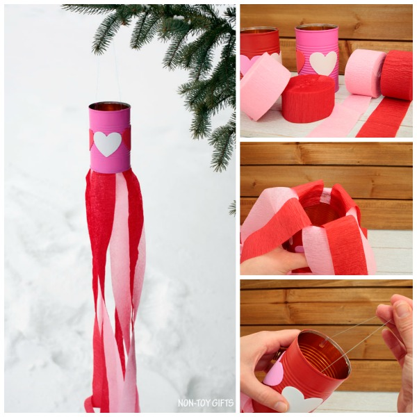 Valentine Kids Craft Heart Windsocks NON TOY GIFTS
