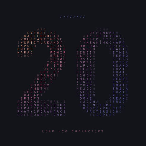 LCRP >20 Characters cover