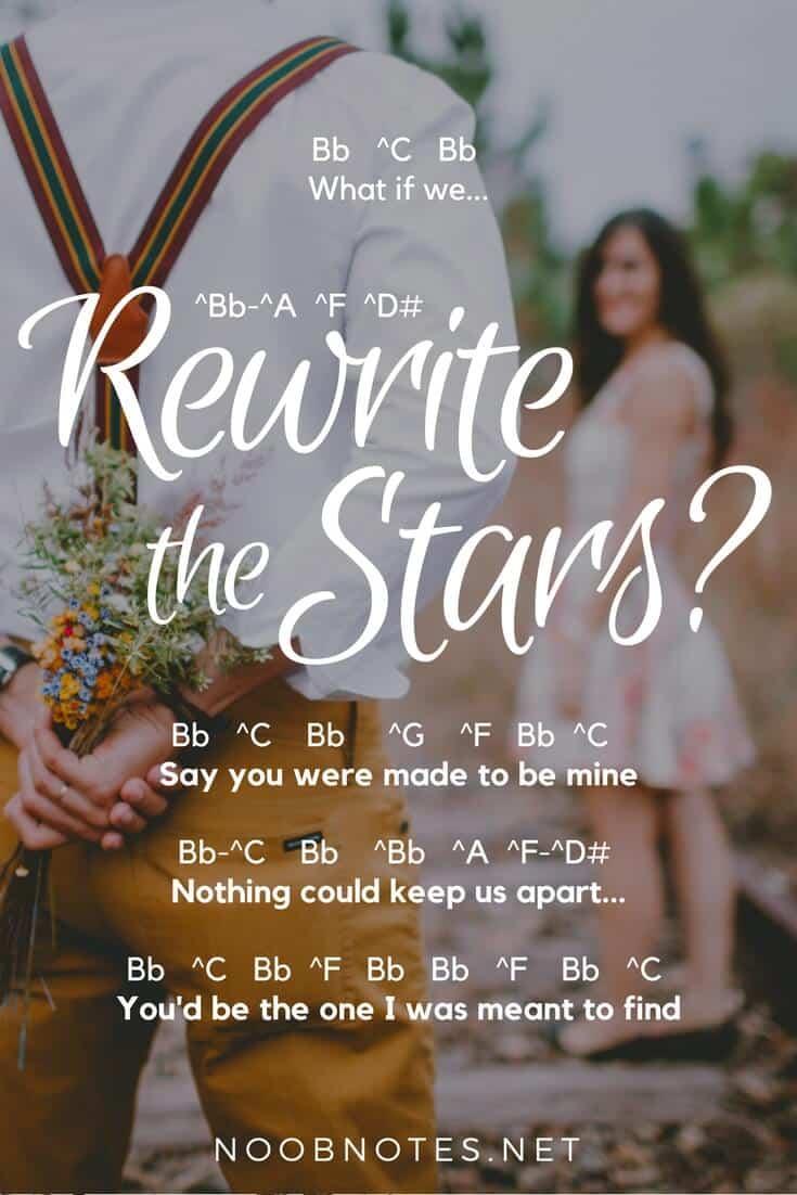Lirik Rewrite The Star Zendaya : lirik, rewrite, zendaya, Rewrite, Stars, Greatest, Showman, Letter, Notes, Beginners, Music, Newbies