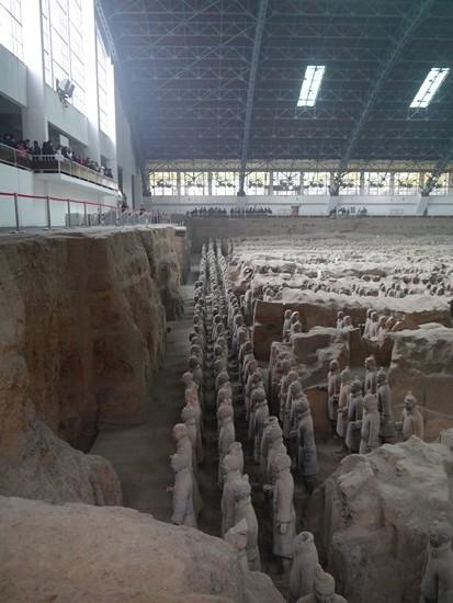 photo armee de terre cuite xian chine