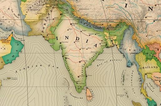 Carte Inde détaillée