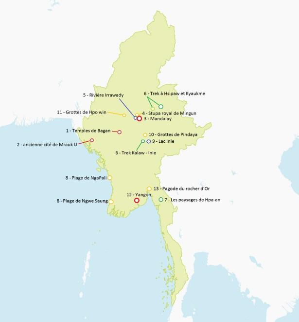 Carte Birmanie Lonely Planet.Carte De La Birmanie Detaillee A Imprimer Noobvoyage Fr