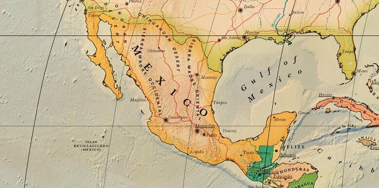 carte touristique mexique détaillée