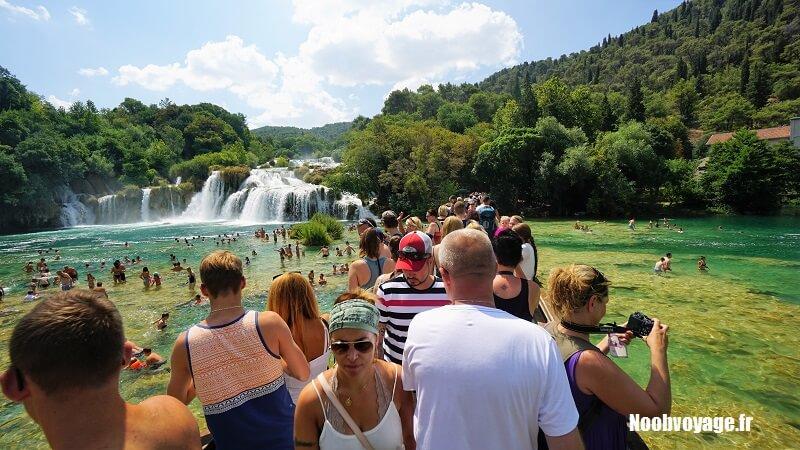comment visiter le parc de krka