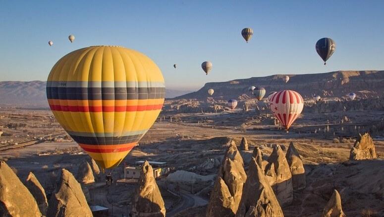 survol Cappadoce en montgolfière
