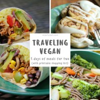 Traveling Vegan - 5 Days of Meals for Two (w/Printable Shopping List)