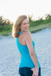 Woman on beach, Delray Beach, Florida, USA