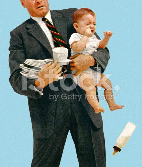 stock-illustration-66447833-man-struggling-to-hold-baby-and-dishes