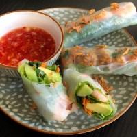 Vietnamese loempia's met garnalen of... kipgehakt!