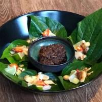 Miang kham, perfect Thais hapje op een blaadje