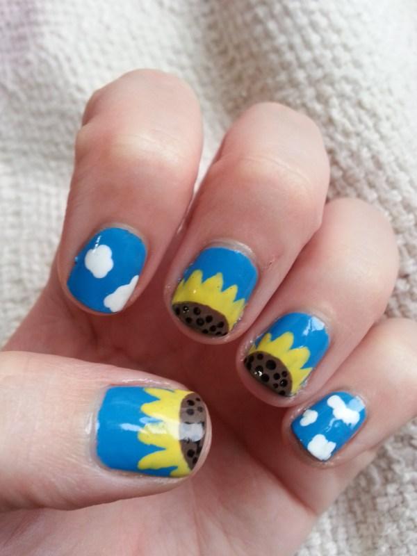 Sunflower Nail Art Joy Studio Design