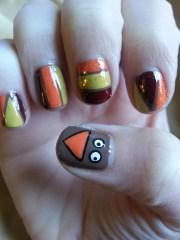 easy thanksgiving nail art tutorial