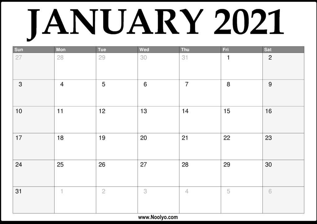 2021 Calendar With Lines | Calendar 2021