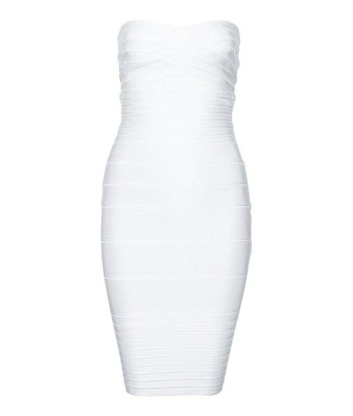Bandage Bodycon Kleid weiss