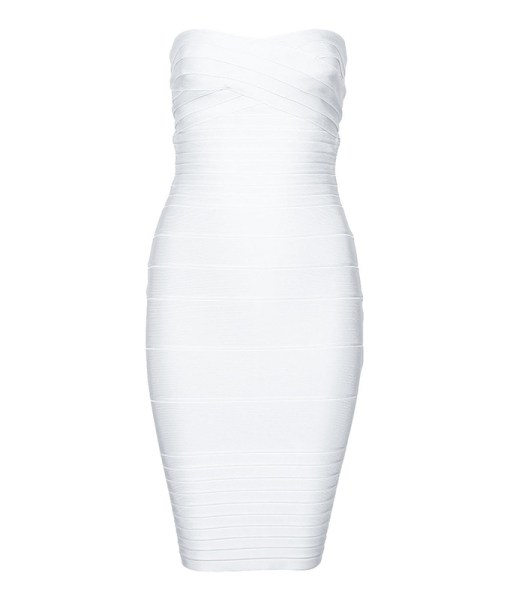 Bandage Bodycon Kleid weiss