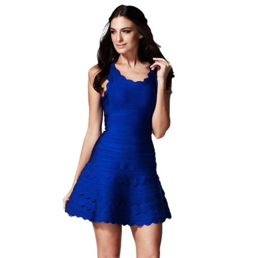 Bandage Bodycon Kleid blau