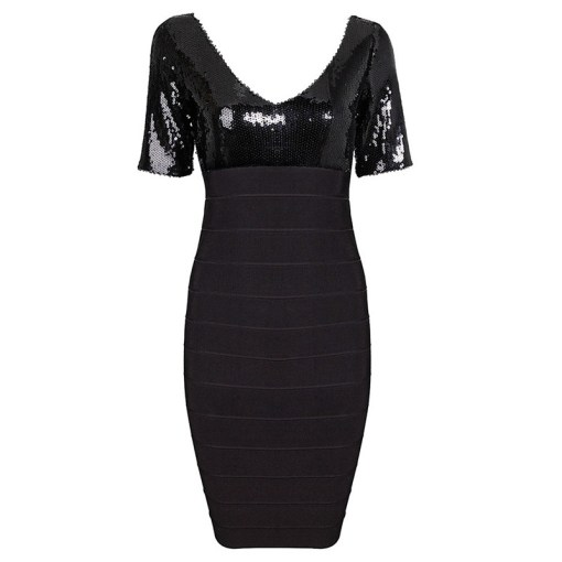Bandage Bodycon Kleid schwarz anthrazit