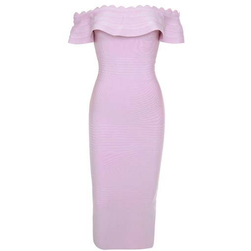 Bandage Bodycon Kleid Midi flieder