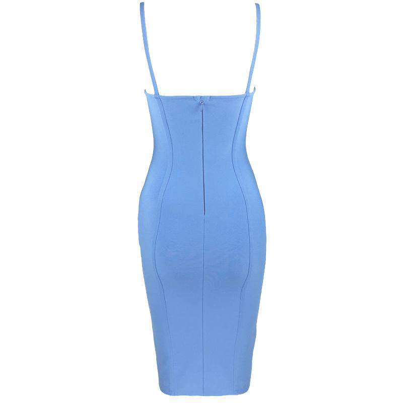 Produktbild Kleid blau Rückenansicht