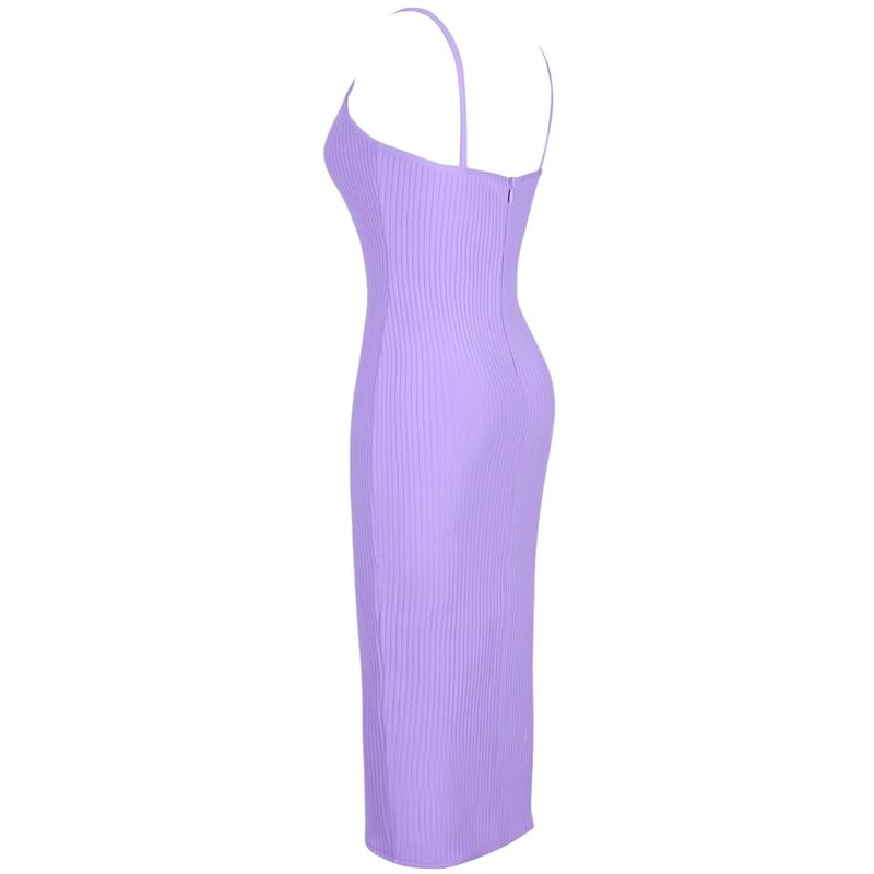 Produktbild Trägerkleid lila seitlich
