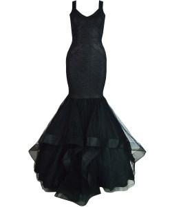 Produktbild Ballkleid in schwarz von vorne.