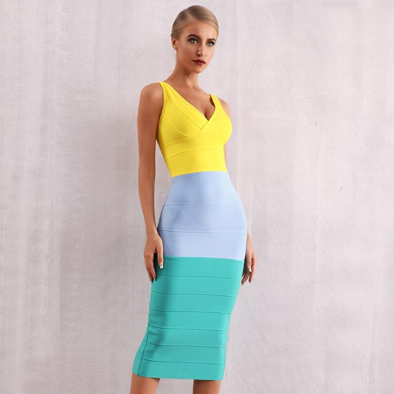 Modelbild Sommerkleid knielang Frontal