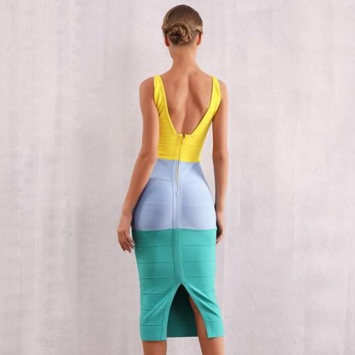 Modelbild Sommerkleid knielang von hinten