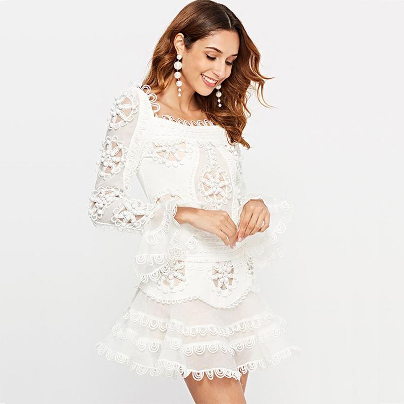 Kleid weiss Spitze | noomi mode
