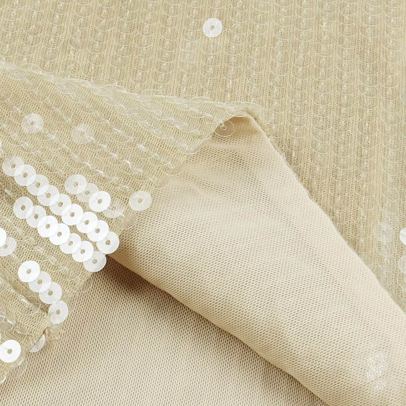 Produktbild Abendkleid beige lang Detail Material
