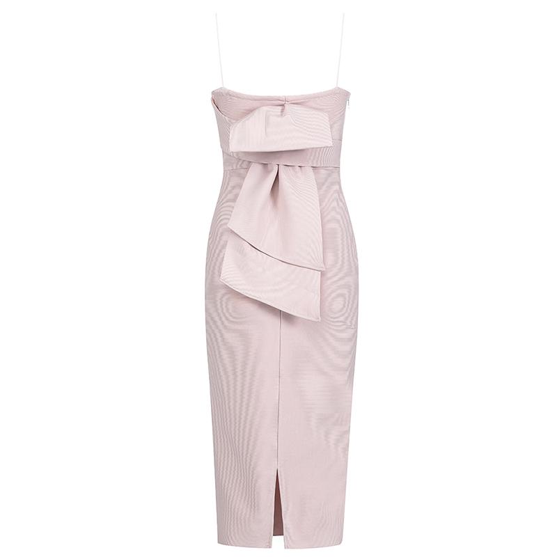 Produktfoto Cocktailkleid puder rosa von hinten