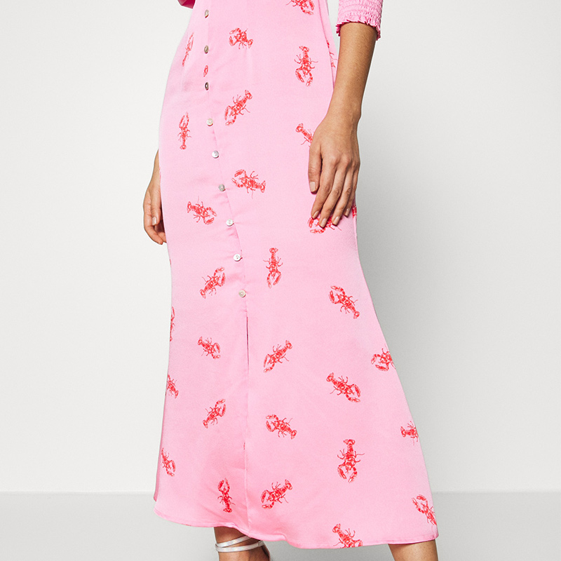 Produktbild Maxi Kleid hummer Detailaufnahme