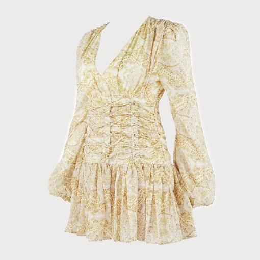 Produktbild Sommerkleid gelb seitlich