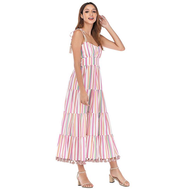 Modelbild Sommerkleid gestreift seitlich