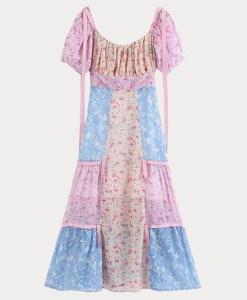 Detailaufnahme Kleid im Boho-Style liegend