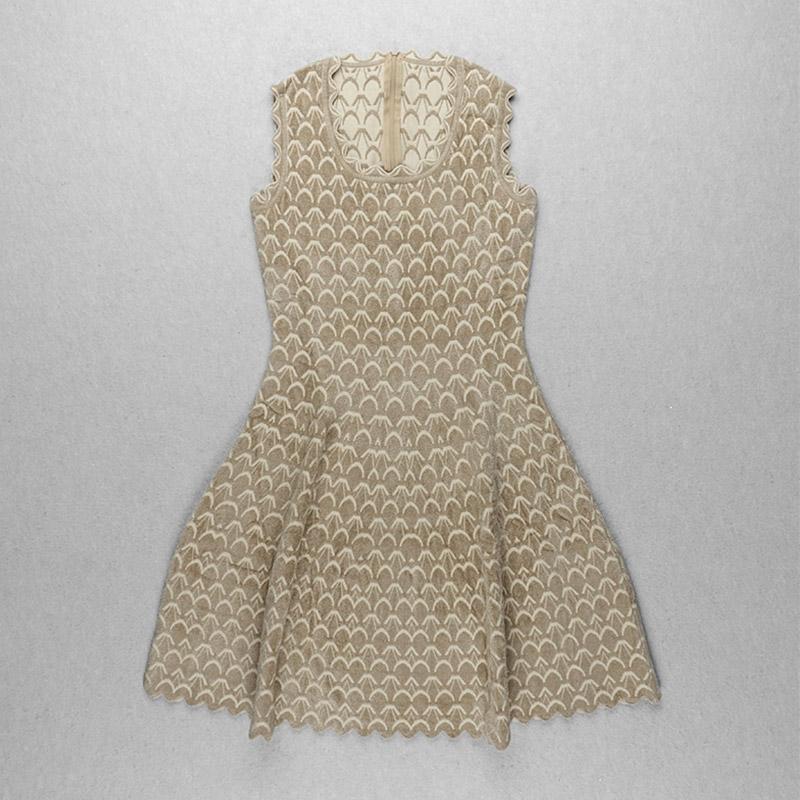 Produktbild Kleid Wellensaum beige