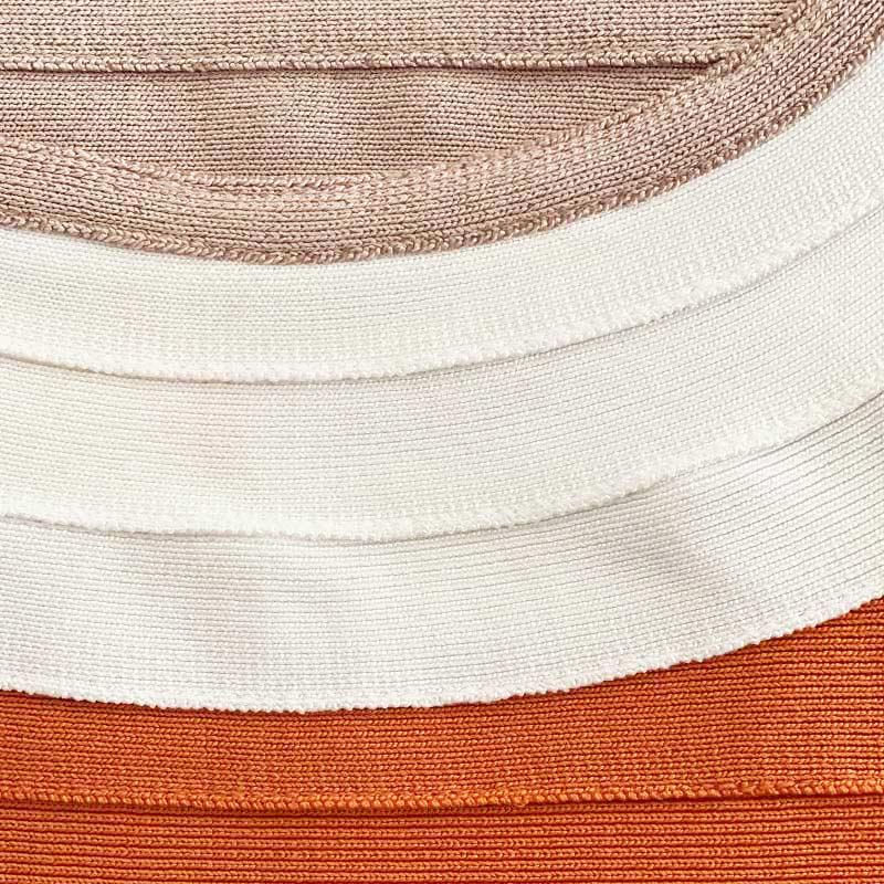 Materialaufnahme Trägerkleid orange