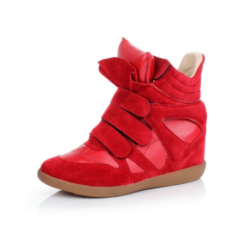 Wedge Sneakers Keilabsatz rot