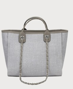 Produktfoto von vorne Tasche Canvas grau