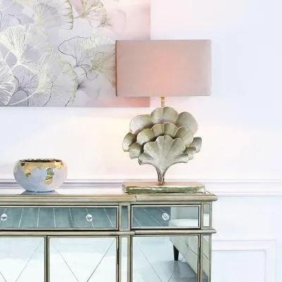 Gingko leaf table lamp