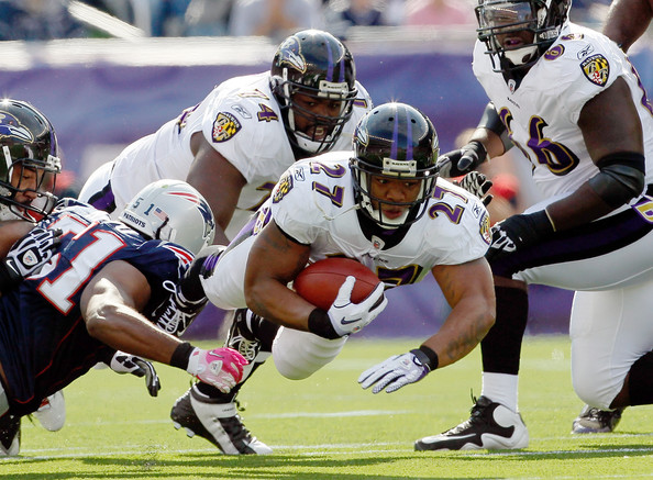 1a14719f9 Can Ray Rice repeat his 2009 postseason performance against New England s  defense on Sunday  (Photo Credit  Zimbio.com)
