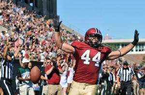 Harvard's Kyle Juszczyk hopes to continue his football career in the NFL! (Photo Credit: The Harvard Crimson)