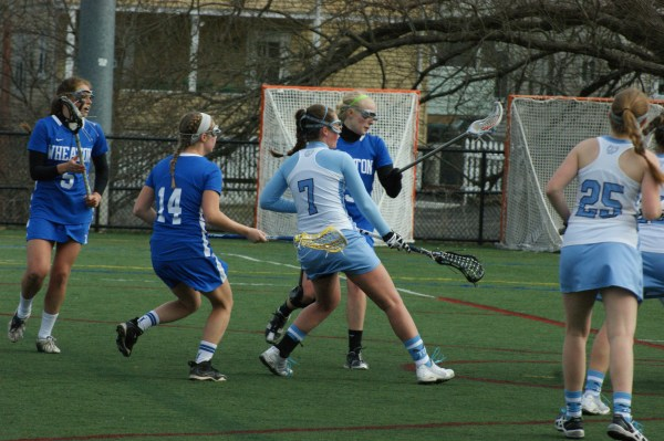 Kerry Eaton's four goals helped Tufts defeat Wheaton! (Photo Credit: Matt Noonan for NoontimeSports.com)