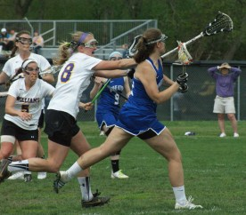Williams College's women's lacrosse team survived a late rally by Wheaton College to claim a 9-6 second round NCAA victory. (Photo Credit: Matt Noonan for NoontimeSports.com)