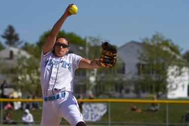 Allyson Fournier capped her four-years in Medford by guiding the Tufts softball team to three national championships. (Photo Credit: Boston.com)