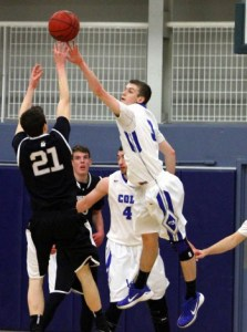 Luke Westman and the Colby men's basketball team travels to Trinity for a first round NESCAC Tournament matchup on Saturday. (Photo Credit: Colby College)