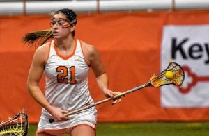 Former Syracuse women's lacrosse great and recent graduate, Kayla Treanor, will make her professional lacrosse debut Friday evening when she competes for the Boston Storm. (Photo Credit: Syracuse.com)