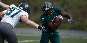 John Smith rushed for three touchdowns on Saturday as Husson defeated Becker College in an important ECFC clash. (Photo Credit: Husson University Athletics)