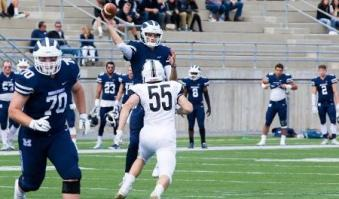 Middlebury College quarterback Jared Lebowitz has tossed five touchdowns in back-to-back contests this season. (Photo Credit: Middlebury College Athletics)