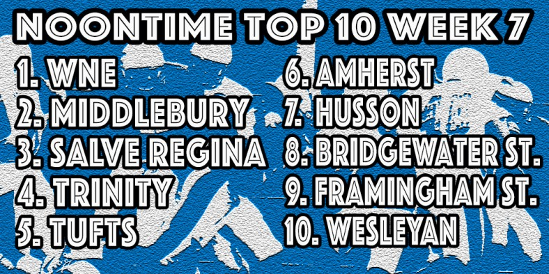 Western New England, Middlebury & Salve Regina highlight our week seven poll.
